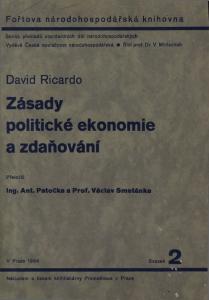 Book Cover: Ricardo, D. (1817): Zásady politické ekonomie a zdaňování